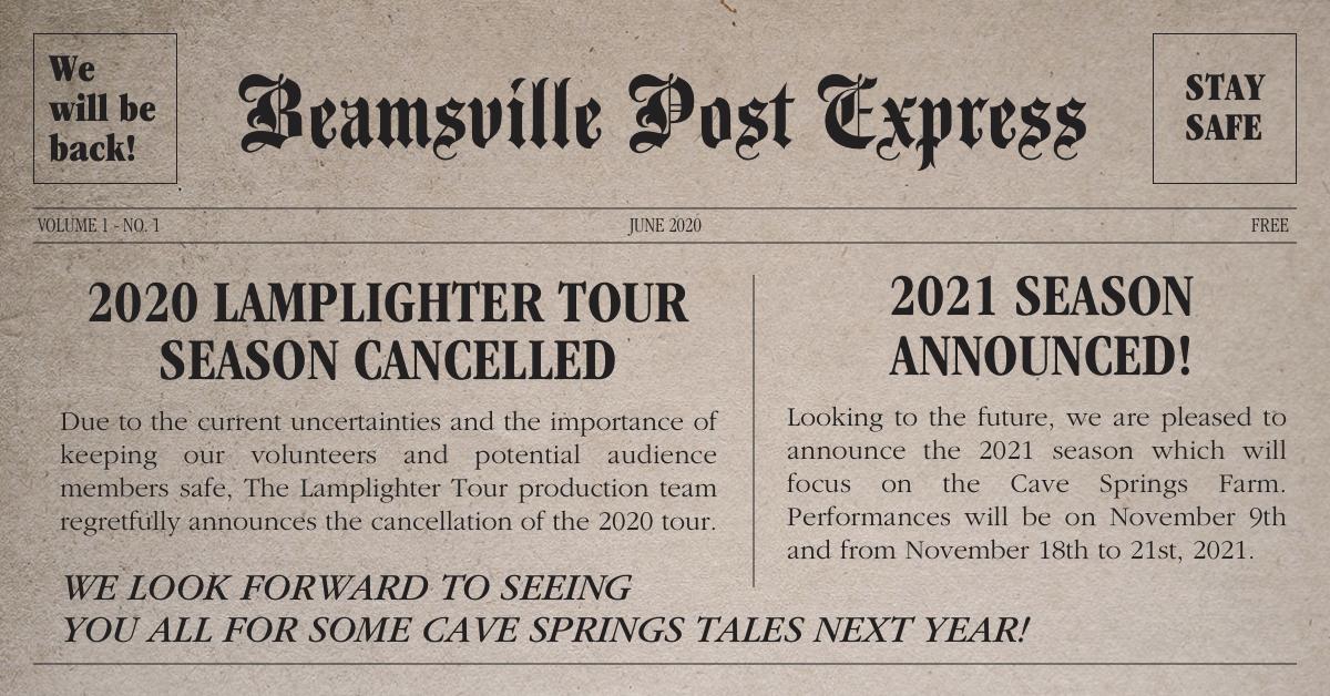 2020 Season Cancelled